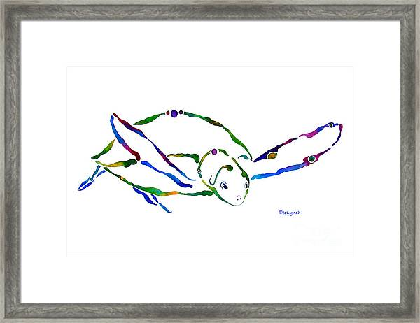 Sea Turtle Grace Framed Print