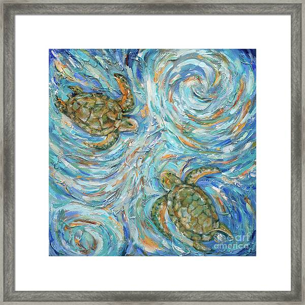 Sea Turtles In The Current Framed Print