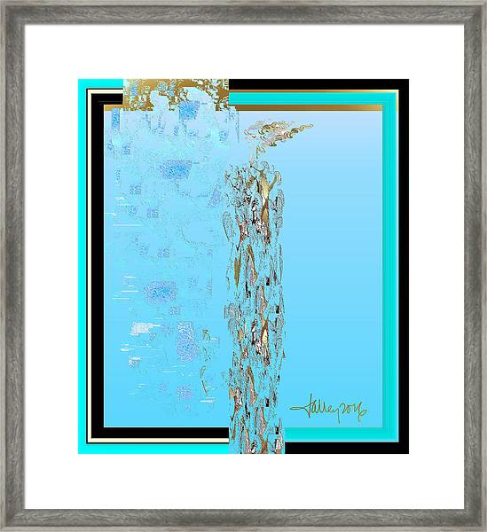 Framed Print featuring the digital art Sea Witch  by Larry Talley