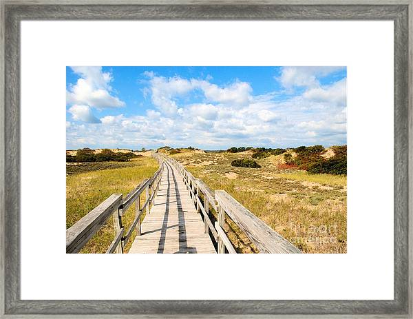 Seabound Boardwalk Framed Print