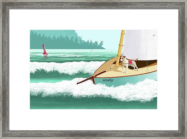 Seadog Framed Print