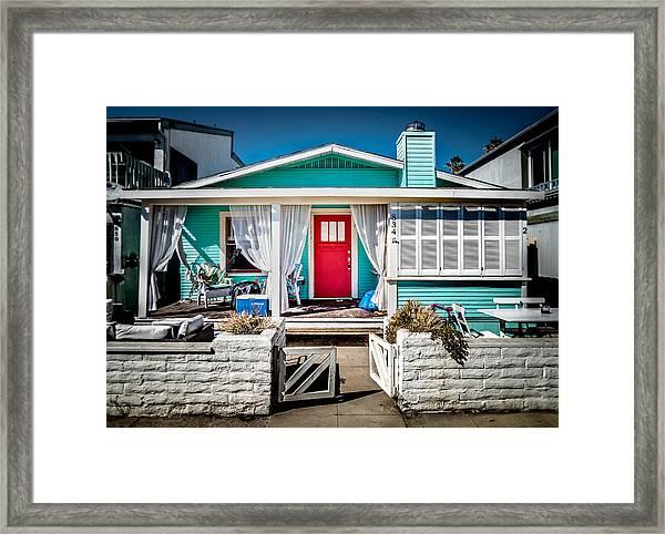 Seafoam Shanty Framed Print