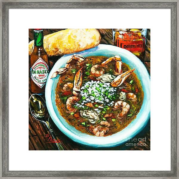 Seafood Gumbo Framed Print