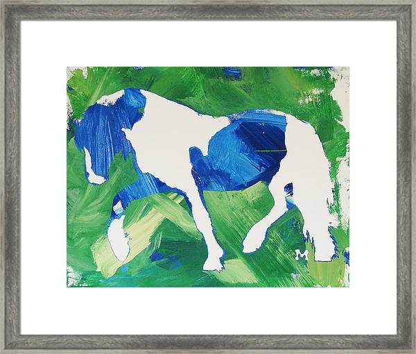 Framed Print featuring the painting Seahawks Horse by Candace Shrope