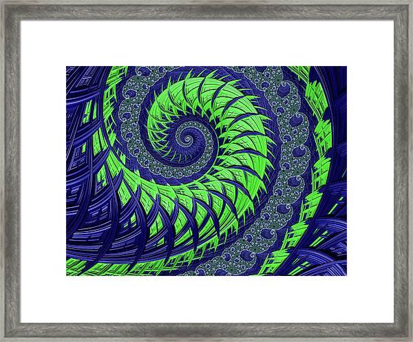 Seahawks Spiral Framed Print