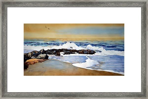 Seamist Framed Print