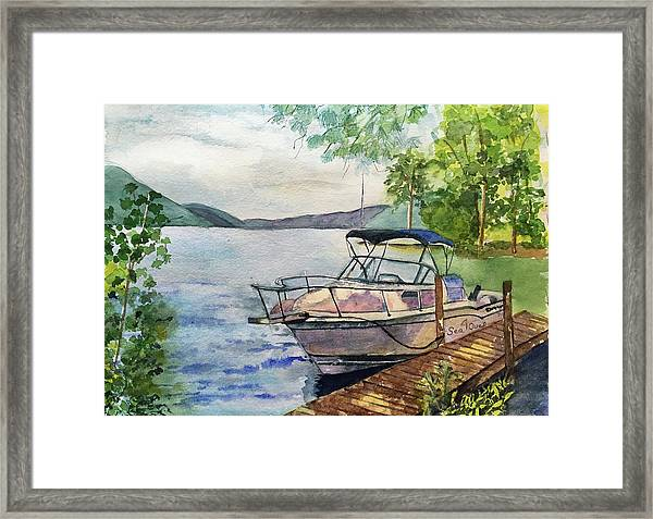 Seaquel At Rest Framed Print