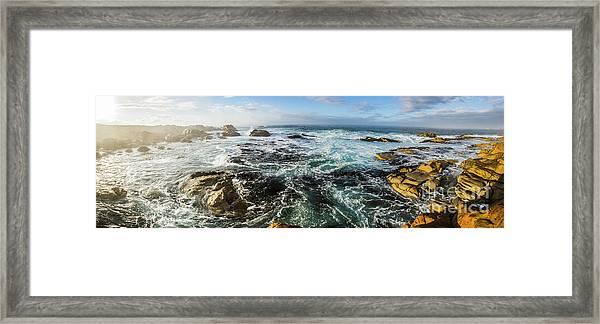 Seas Of The Wild West Coast Of Tasmania Framed Print