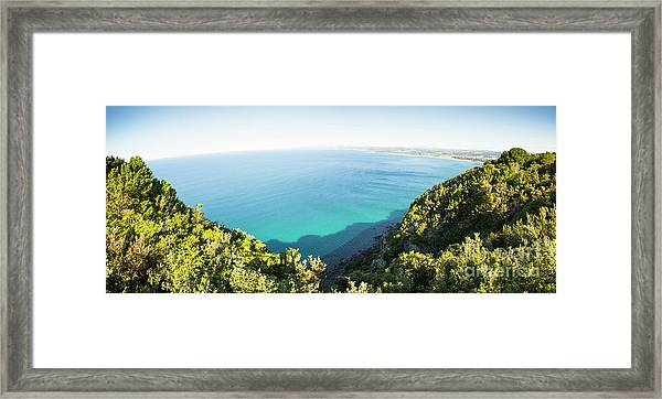 Seas Of Turquoise Blue Framed Print