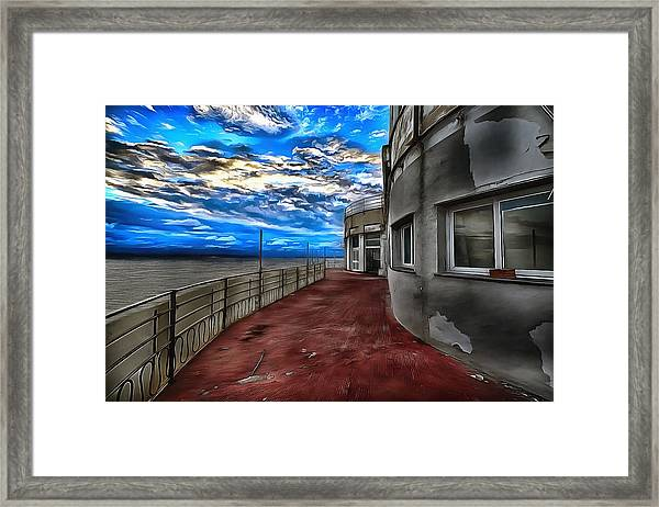 Seascape Atmosphere - Atmosfera Di Mare Dig Paint Version Framed Print