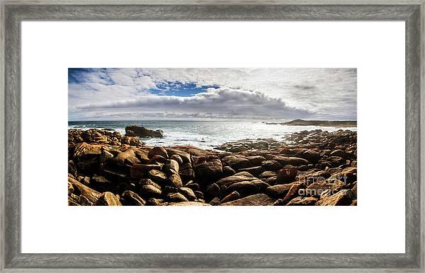Seascape In Harmony Framed Print