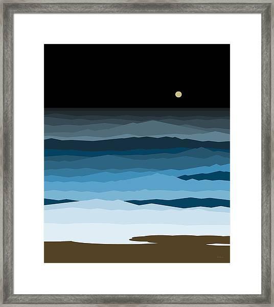 Seascape - Night Framed Print