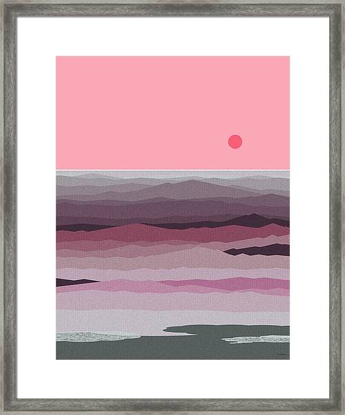 Seascape Pinks Framed Print