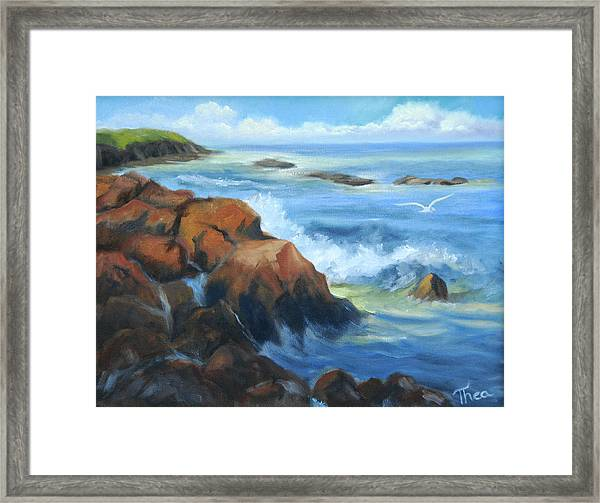 Seascape Framed Print by Thea Wolff