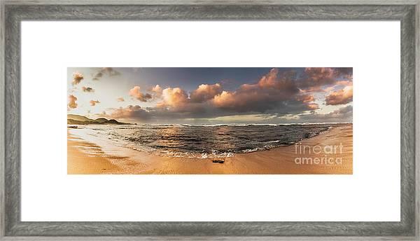 Seashore Splendour Framed Print