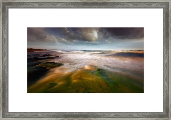 Seaside Abstraction Framed Print