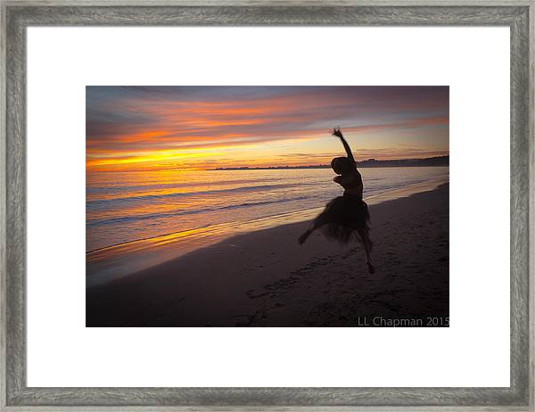 Seaside Dancer Framed Print