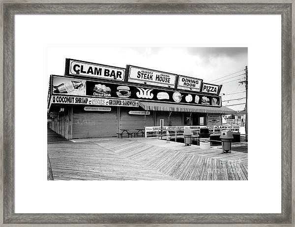 Seaside Heights Boardwalk Dining Framed Print