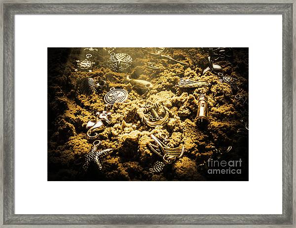 Seaside Of Creative Charms Framed Print