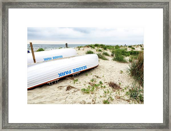 Seaside Park Lifeguard Boats Framed Print