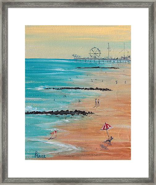 Seaside Framed Print by Pete Maier