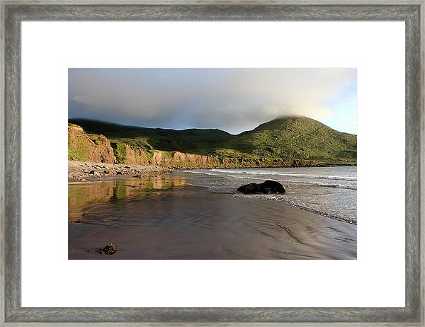 Seaside Reflections, County Kerry, Ireland Framed Print