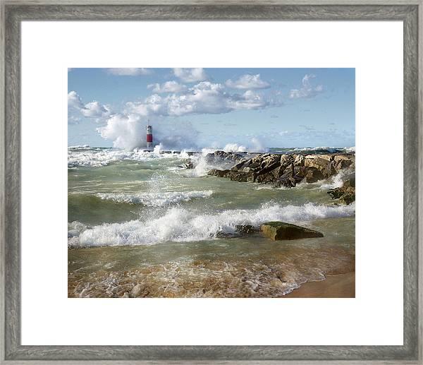 Seaside Splash Framed Print