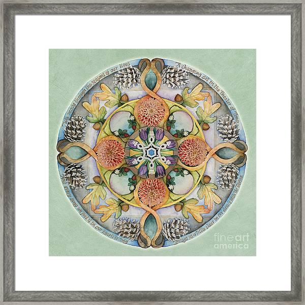 Seasons Mandala Framed Print