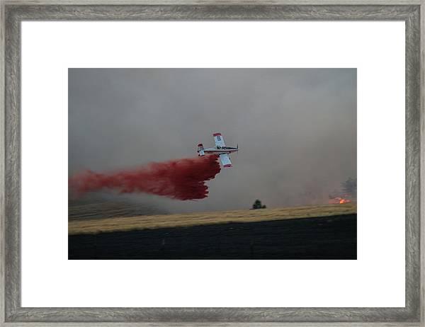 Seat Drops On Indian Canyon Fire Framed Print