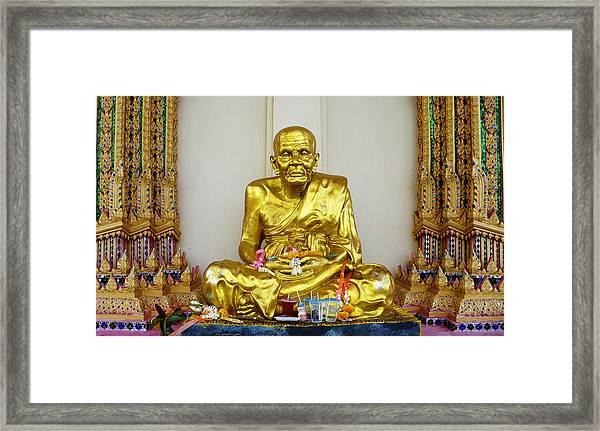 Seated Holy Man At Koh Samui Framed Print