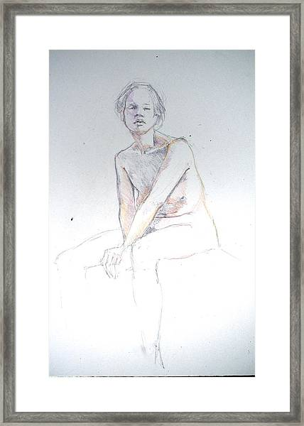 Seated Study 2 Framed Print