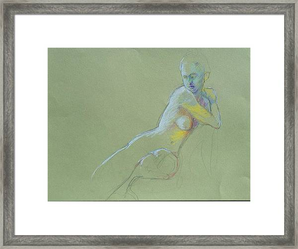 Seated Study Framed Print