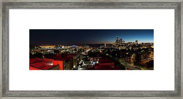 Seattle City And Port Framed Print