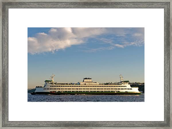 Seattle Ferry Framed Print by Tom Dowd