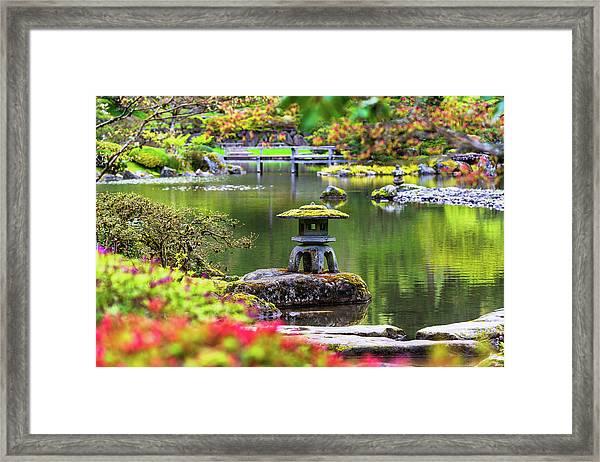 Seattle Japanese Garden Framed Print