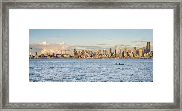 Seattle Skyline 2 Framed Print