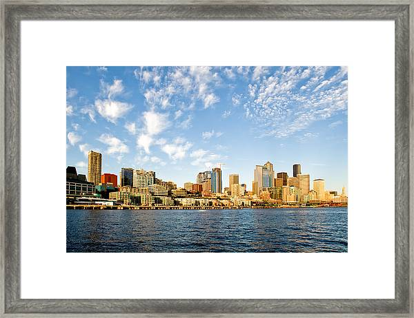 Seattle The Emerald City Framed Print by Tom Dowd
