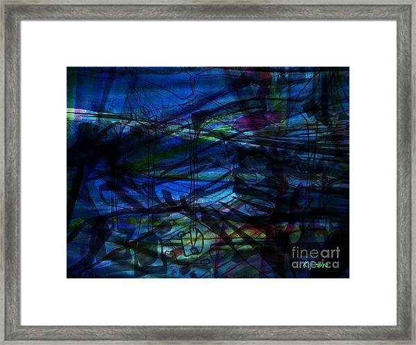 Seaweed And Other Creatures Framed Print