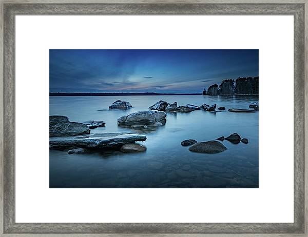 Sebago Blue  Framed Print