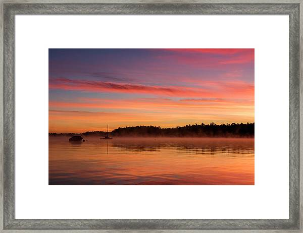 Sebago Sunrise Framed Print