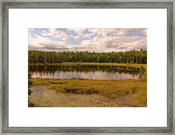 Secluded Lake Framed Print