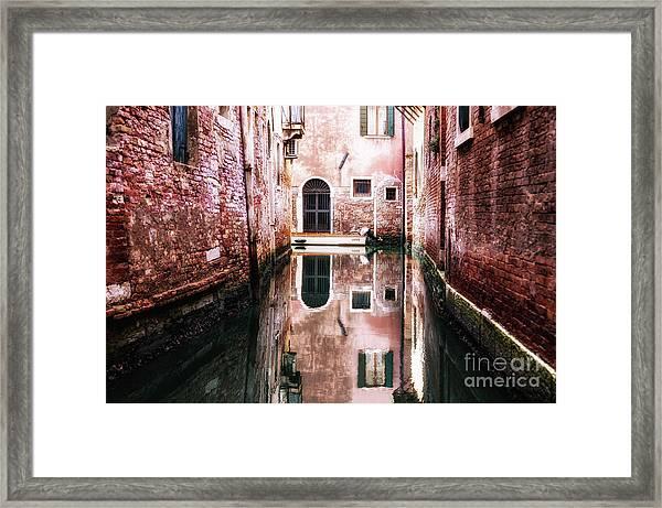 Secluded Venice Framed Print