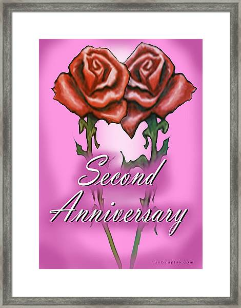 Second Anniversary Framed Print