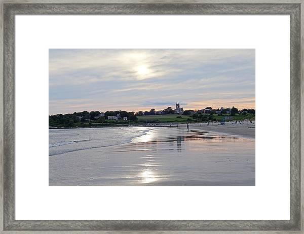 Second Beach Newport Ri Framed Print