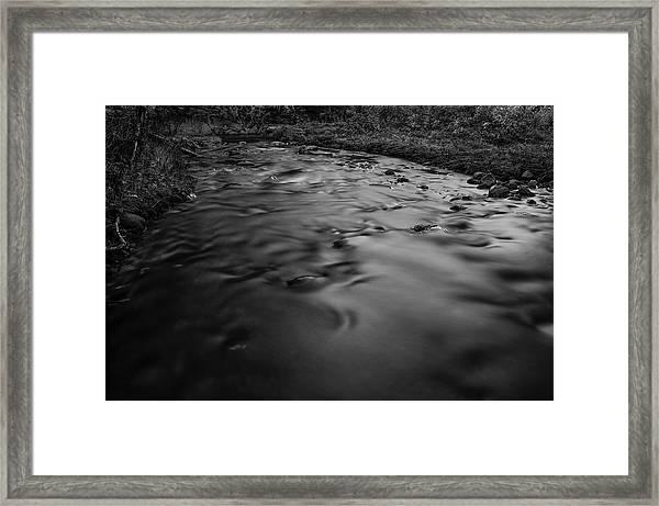 Second Pond Brook At Sunset Framed Print