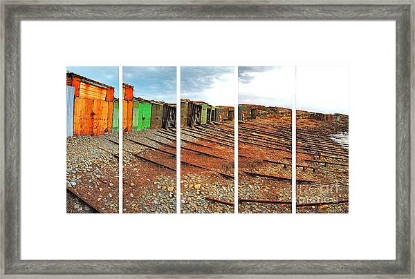 Second Valley Boat Sheds Framed Print