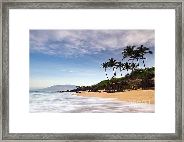 Secret Beach Maui Sunrise Framed Print