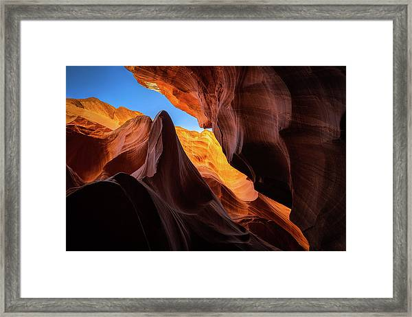 Secret Canyon Framed Print