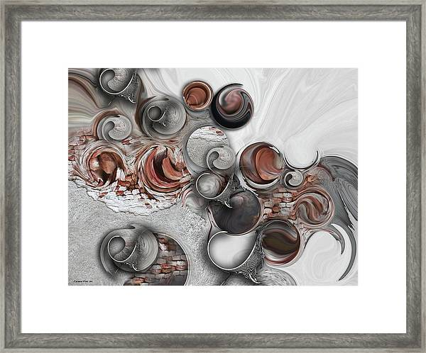 Secret Extracts From Linear Emotion Framed Print