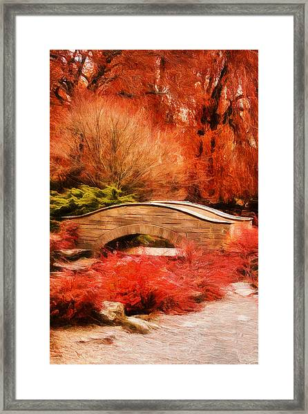 Secret Footbridge Framed Print